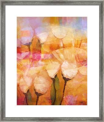 Floral Poetry Framed Print by Lutz Baar