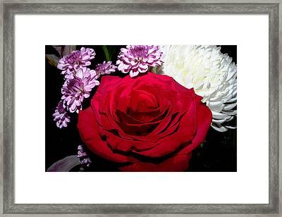 Floral Arrangement - Posterized Framed Print