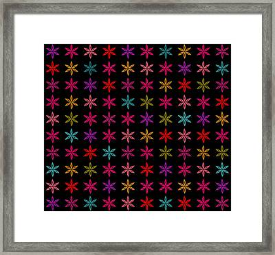 Floral Power Framed Print by Sumit Mehndiratta