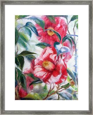 Floral Print Framed Print by Nancy Stutes