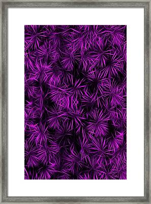 Floral Purple Abstract Framed Print by David Dehner