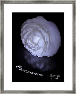 Floral Reflections 4 - Camellia Framed Print by Kaye Menner