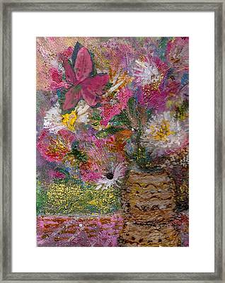 Floral Rhapsody Collage Framed Print