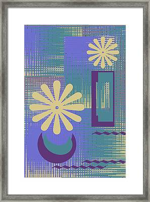 Floral Still Life In Purple Framed Print by Ben and Raisa Gertsberg