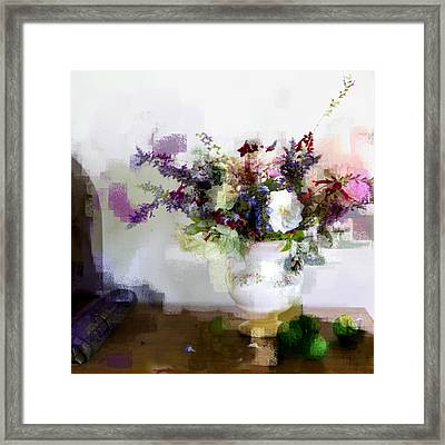 Framed Print featuring the photograph Floral Still Life II by Linde Townsend