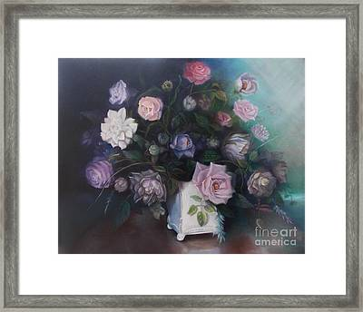 Floral Still Life Framed Print by Marlene Book