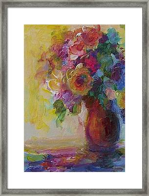 Floral Still Life Framed Print by Mary Wolf