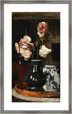 Floral Still Life Framed Print by Roderic O Conor