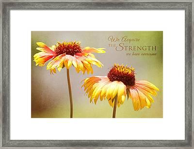 Floral Sunshine With Message Framed Print