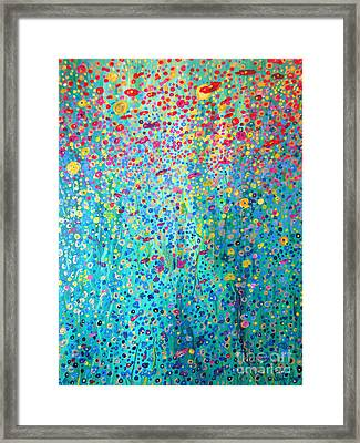 Framed Print featuring the painting Floral Symphony by Stacey Zimmerman