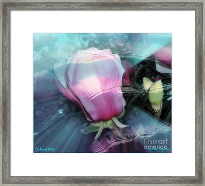 Framed Print featuring the photograph Floral Tides by Leanne Seymour