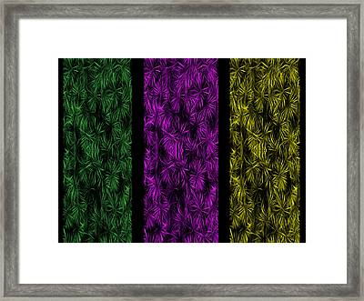 Floral Trio Panes Abstract Framed Print by David Dehner