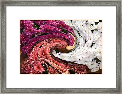 Floral Twirl Framed Print by Sonali Gangane