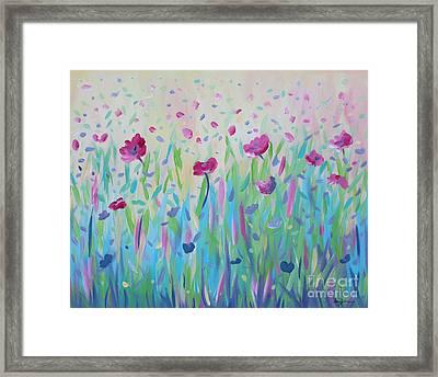 Floral Whispers Framed Print