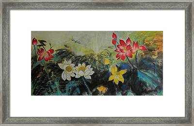 Floral White 2 Framed Print by Min Wang