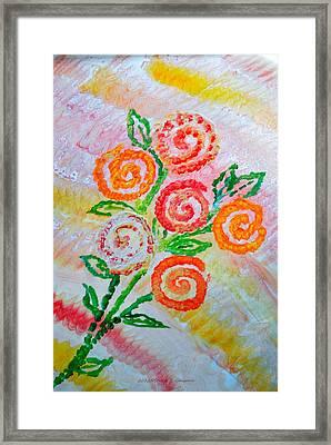 Floralen Traum Framed Print