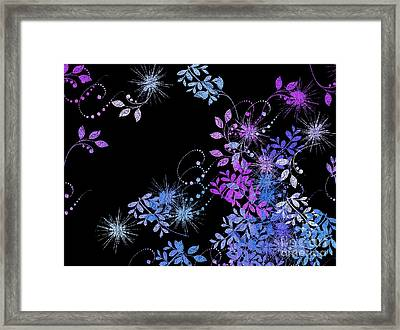 Floralities - 02a Framed Print by Variance Collections