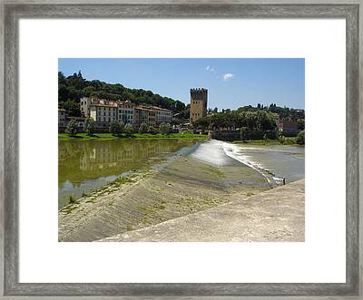 Florence Arno Framed Print by Chuck Stewart