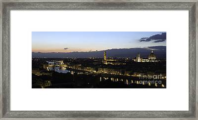 Florence At Night Framed Print