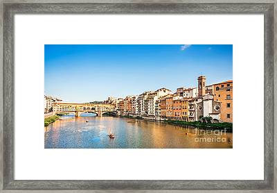 Florence At Sunset Framed Print by JR Photography
