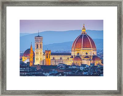 Florence Dome Framed Print by Stefano Termanini