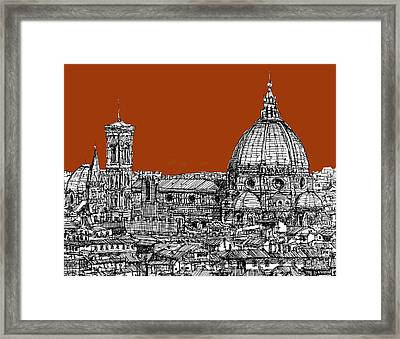 Florence Duomo On Sepia  Framed Print