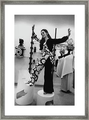 Florence Grinda In Simonetta Paris Boutique Framed Print