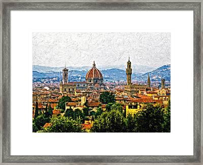 Florence Impasto Framed Print by Steve Harrington