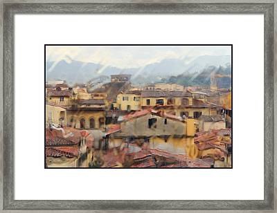 Florence In The Rain Framed Print