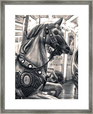 Florence Italy Carousel - 03 Framed Print by Gregory Dyer