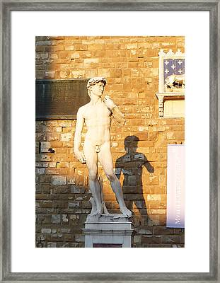 Florence Italy Michelangelo David Replica Framed Print