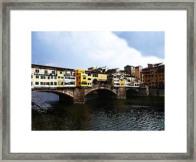 Florence Italy Ponte Vecchio Framed Print
