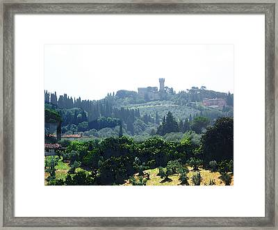 Florence Landscape Framed Print by Irina Sztukowski