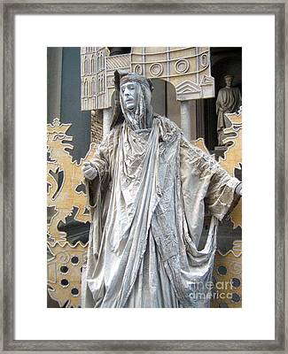 Florence Living Sculpture Framed Print by Europe  Travel Gallery