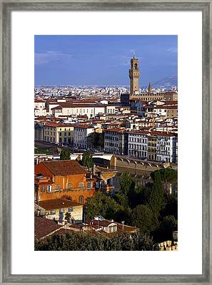 Framed Print featuring the photograph Florence Morning 2 by Henry Kowalski