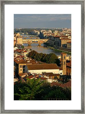 Framed Print featuring the photograph Florence Morning 3 by Henry Kowalski