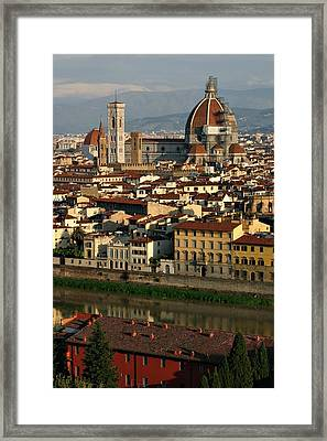 Framed Print featuring the photograph Florence Morning by Henry Kowalski