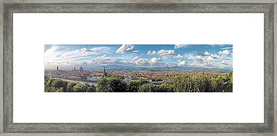 Florence Panorama Framed Print by C H Apperson