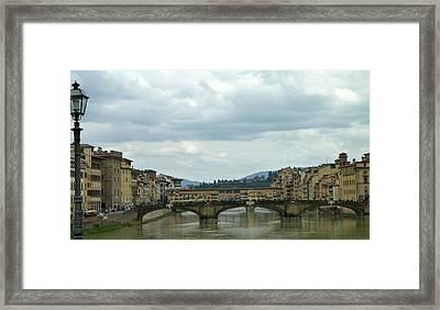 Florence. Ponte Vecchio Framed Print