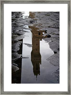 Framed Print featuring the photograph Florence Reflection by Henry Kowalski