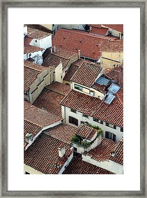 Framed Print featuring the photograph Florence Roof Tiles by Henry Kowalski