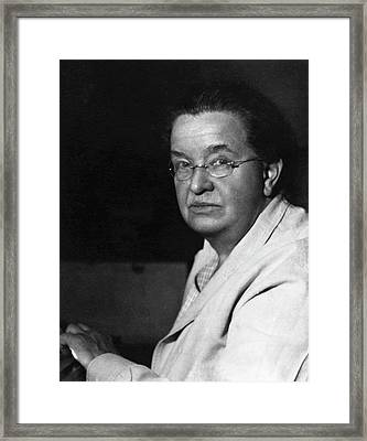 Florence Sabin Framed Print by American Philosophical Society