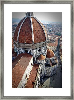 Florence Tile Roof Church Framed Print
