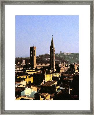 Florence Towers Framed Print by Spyder Webb