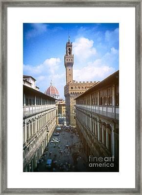 Florence Uffizi Gallery Framed Print by Silvia Ganora