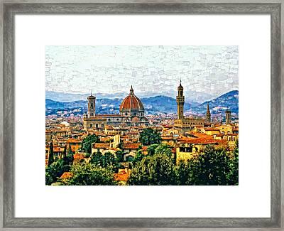 Florence Watercolor Framed Print by Steve Harrington
