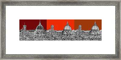 Florence's Duomo In Oranges Framed Print