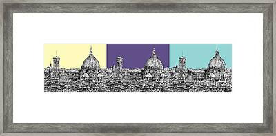Florence's Duomo In Pastels Framed Print by Adendorff Design