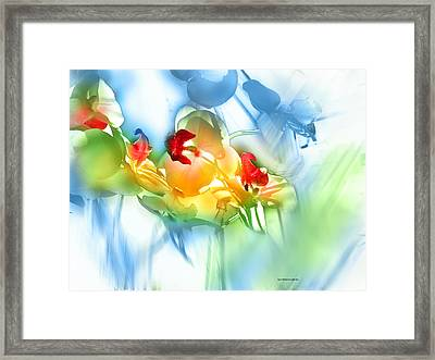 Framed Print featuring the photograph Flores En La Ventana by Alfonso Garcia
