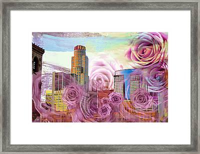 Las Flores De Los Angeles  Framed Print by John Fish